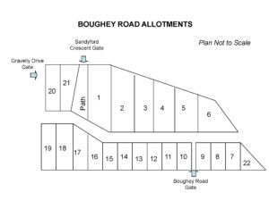 BOUGHEY ROAD ALLOTMENT MAP